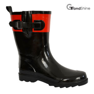 Wellington Low Rainboots with Adjustable Vamp pictures & photos