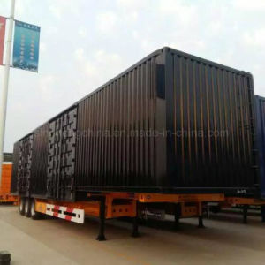 13m Tri-Axle Side Wall Semi Trailer for Bulk Cargo Transport pictures & photos