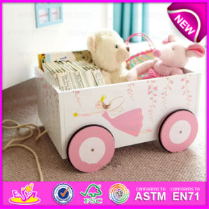 Supply Cheap Fashion Pretty Wooden Toy Box for Storage Book, Multi Functional Decorative Wooden Toy Storage Box W08c126 pictures & photos
