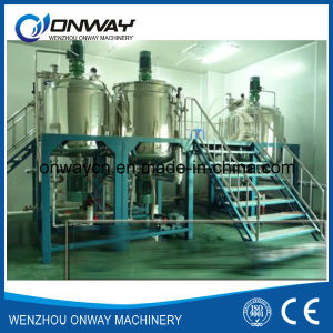 Pl Stainless Steel Jacket Emulsification Mixing Tank Oil Blending Machine Mixer Sugar Solution Jacket Stirring Mixer pictures & photos