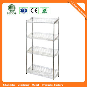 Hot Selling Js-Ws09 Metal Wire Storage Shelving with High Quality pictures & photos