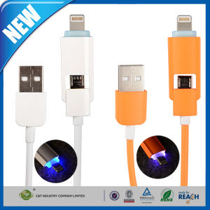 LED Lighting Over-Charge Micro USB 2.0 Charge Cable pictures & photos