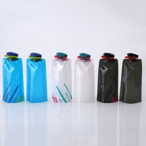 Portable BPA Free Collapsible Water Bag Bottle for Camping Travel pictures & photos