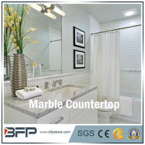 Natural White/Brown/Black Marble Stone Bathroom for Vanity Top with Eased Edge Treatment pictures & photos