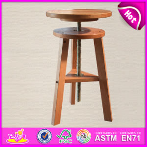 Top Quality Can Adjustable Height Wooden Simple Spiral Swivel Lifting Stool W08g147 pictures & photos