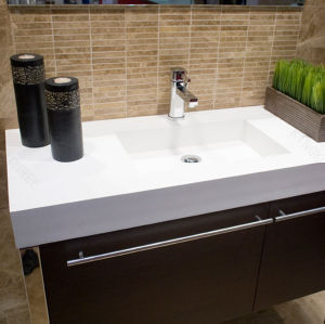 Kkr Modern Design Bespoke Solid Surface Vanity Top pictures & photos
