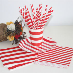 Decorative Items Wholesale Red Set Drinking Paper Straws pictures & photos