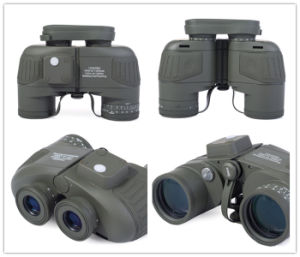 Tactical 10x50 Navy Illuminant Binocular with Rangefinder and Compass Reticle pictures & photos