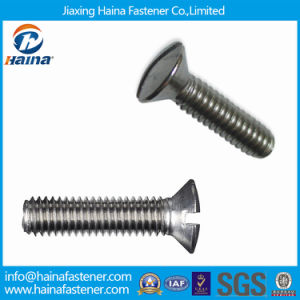 DIN964 Stainless Steel Slotted Raised Countersunk Head Machine Screws pictures & photos