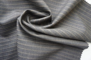 Stripe Wool Fabric of 100% Wool