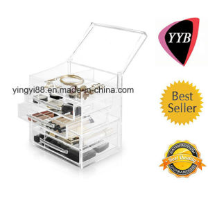 High Quality Acrylic Jewelry Box with Handles pictures & photos