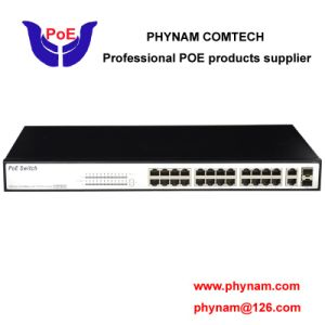 24 Port Managed Poe Switch 10/100m Surge Protection Design with 2 SFP/Tx Combo Uplink (TS2824FM-330) pictures & photos