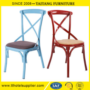 Chinese Factory Classical Metal Back Cross Chair pictures & photos