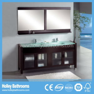 Multifunctional Classic Bathroom Cabinet with 2 Basins and Mirrors (BV191W) pictures & photos
