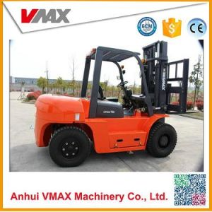7 Ton Diesel Forklift Truck with Cabin and Air-Condition (CPCD70) pictures & photos