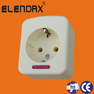 Extension Cord Socket 2 Pin+Earth, Schuko Standard (E5000) pictures & photos