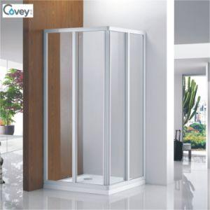 Sliding Square Shower Cubicle/White Frame Shower Enclosure (CVS047-W)