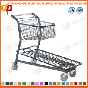 Metallic Wire Grocery Supermarket Handling Shopping Trolley Cart (Zht205) pictures & photos