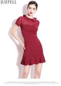 Summer New Women′s European Minimalist Temperament Round Neck Slim Dress Flounced Dress Women Fashion Design pictures & photos