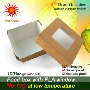 Fast Food Paper Box Packaging with Window (K85) pictures & photos