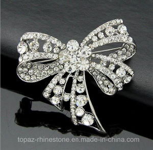 Brooch for Sale Rhinestone Bow Brooch for Women Costume (TB-020 bow) pictures & photos
