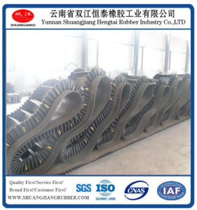 Corrugated Sidewall Conveyor Belt (H=300) pictures & photos