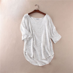 Polka DOT Chiffon Long Sleeve Shirt (OEM) pictures & photos