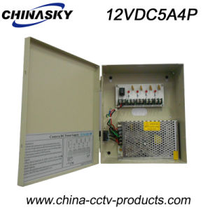 12VDC Boxed CCTV Power Supply for 4 Cameras (12VDC5A4P) pictures & photos