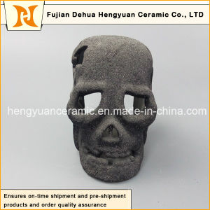 Factory Manufacture Wholesale Decor Art Gift Ceramic Black Halloween Decoration Skull pictures & photos