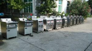 Gas Open Fryer, Gas Chips Fryer (PLC, filter system) pictures & photos