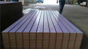 Slot MDF/Melamine MDF/Slot Melamine MDF pictures & photos