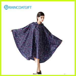 Allover Printed Fashion Women′s EVA Rain Poncho pictures & photos