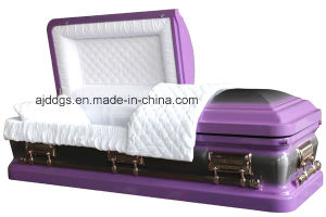 Light Purple Casket with Nature Brush pictures & photos