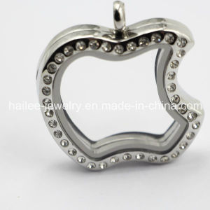 Apple Stainless Steel Glass Locket Pendant pictures & photos