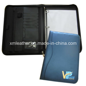 Removable Ring Binder Custom Padfolio with Notepad pictures & photos