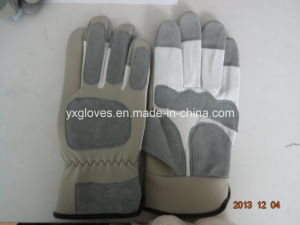 Pig Leather Glove-Industrial Glove-Protected Glove-Gloves-Working Leather Glove pictures & photos