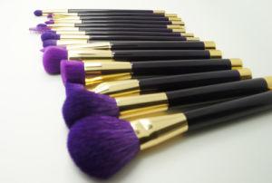 Fashion 15 Pieces Noble Purple Natural Hair Makeup Brush pictures & photos