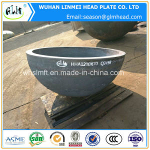 Q345r 1200*70 mm Hot Formed Hemisphere Head for Pressure Vessel pictures & photos