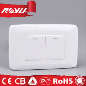 China New Design Illuminated 2 Gang Electrical Wall Switch for ...
