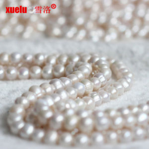 11-12mm 3mm Big Hole Round Natural Freshwater Pearl Beads for Making Jewelry pictures & photos