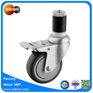 1 1/2 in Expanding Stem Caster with 4 in PU Wheel pictures & photos