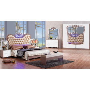 Bedroom Furniture Set with King Bed and Cabinet (6616) pictures & photos