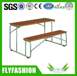Durable Wooden Double Standard Size School Desk and Chair (SF-31D) pictures & photos