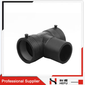 UV Resistant HDPE Plastic Black Custom Reducing Pipe Tee Sizes pictures & photos