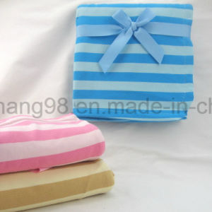 Baby Blanket 100% Cotton Jersey-Stripe Colorway pictures & photos