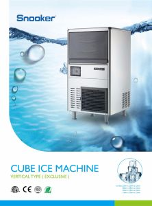 304 Stainless Steel Shell Cube Ice Machine for Hotels pictures & photos