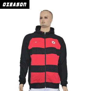 New Style Top Quality Hoodied Sweatshir, Black and Red Stripes Hoodie pictures & photos