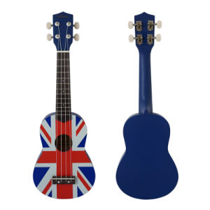 Wholesale Smile Face Colour Soprano Toy Ukulele for Kids pictures & photos