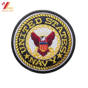 Round Shape Army Embroidered Patches for Uniform (YB-e-013) pictures & photos