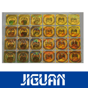 Metallic Holographic Paper Diffraction Film Labels pictures & photos